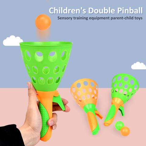 Double Butt Launching Throwing And Catching Toy Set