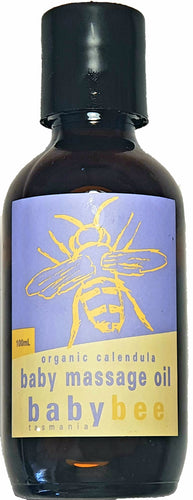 Stripp'd Life baby bee organic massage oil