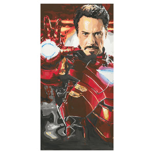 Iron Man Marvel Canvas Original Artwork (20 x 40 inches)