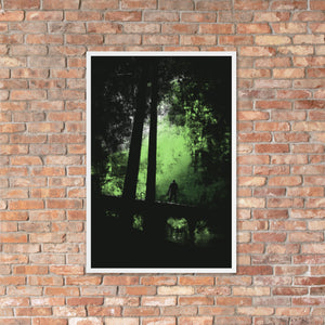 Stranger in the Woods Horror Art Print - Green