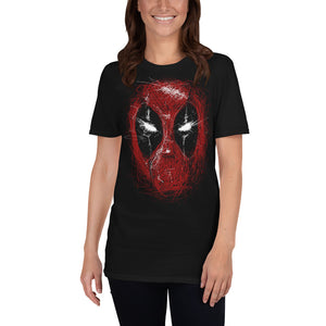 Marvel Deadpool Line Art Unisex T-Shirt