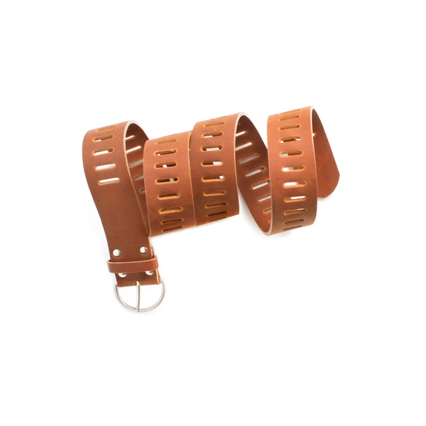 DAVINA - tan unisex leather belt