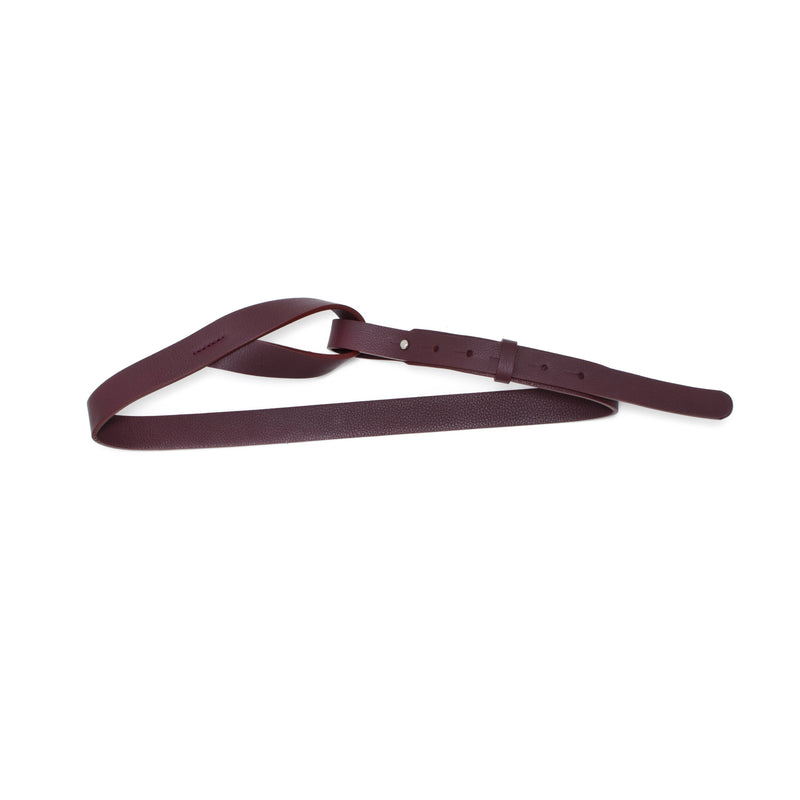 BABILA - wine leather belt