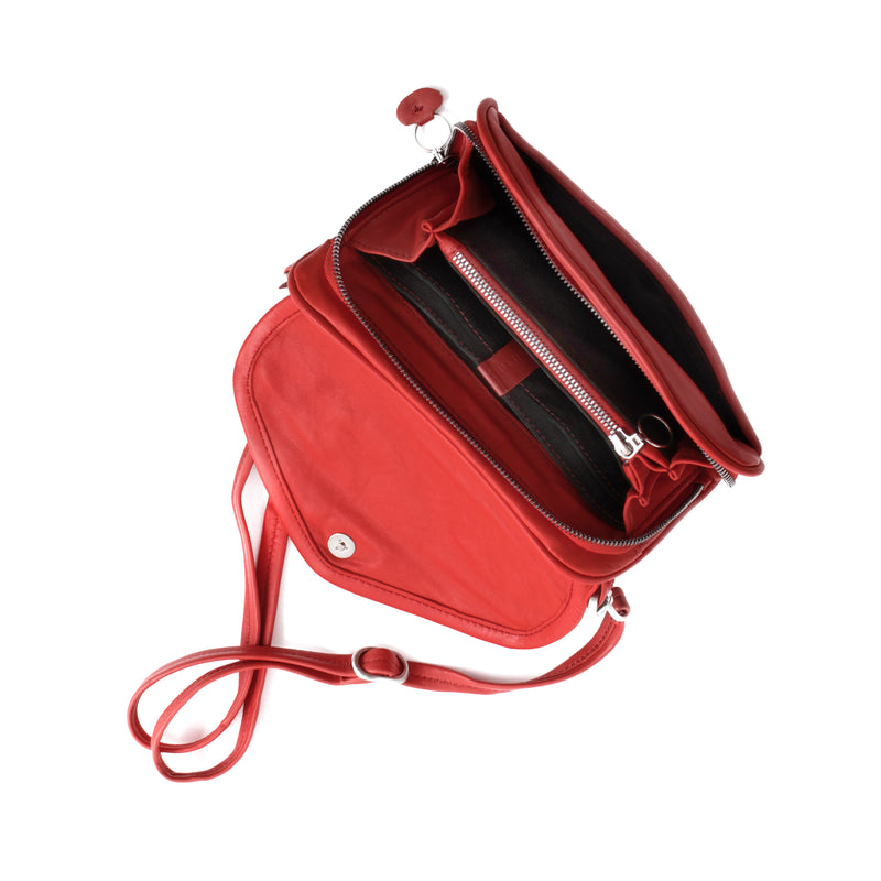 PETRA - poppy red wallet bag