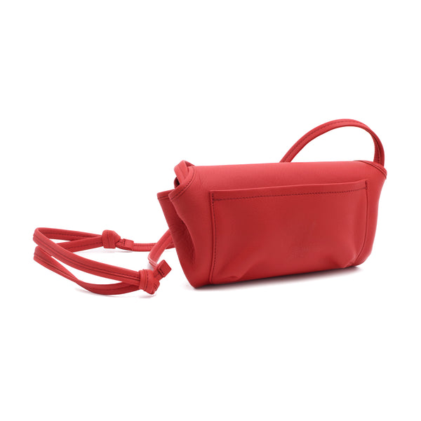 CANDY - fiery red pouch shoulder or cross body bag