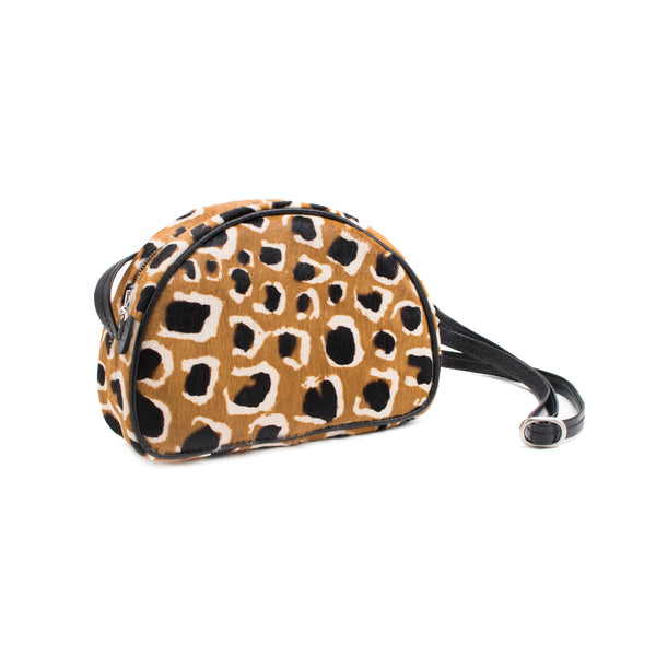LUCIA - leopard print cow hair small shoulder bag