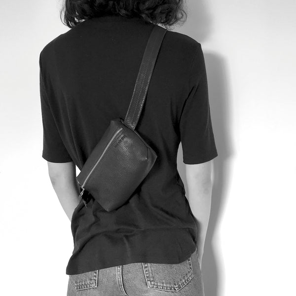 ANNY - vanilla unisex belt bag and cross body