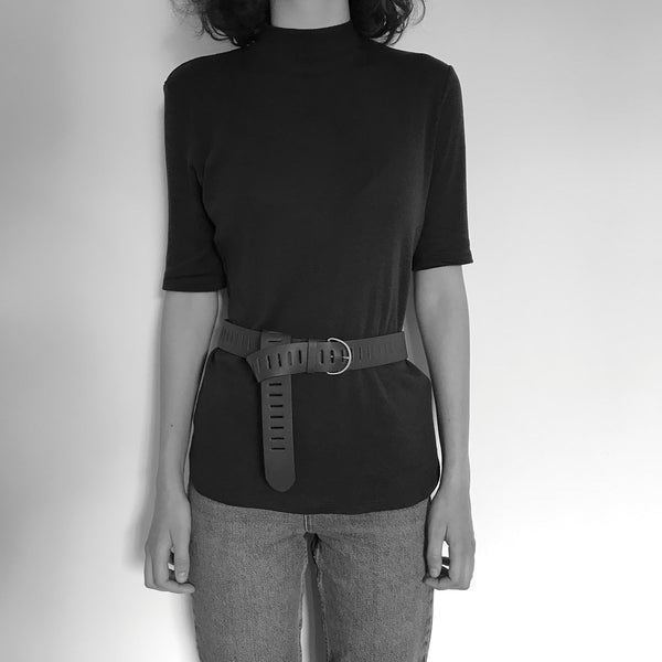 DAVINA - wine unisex leather belt