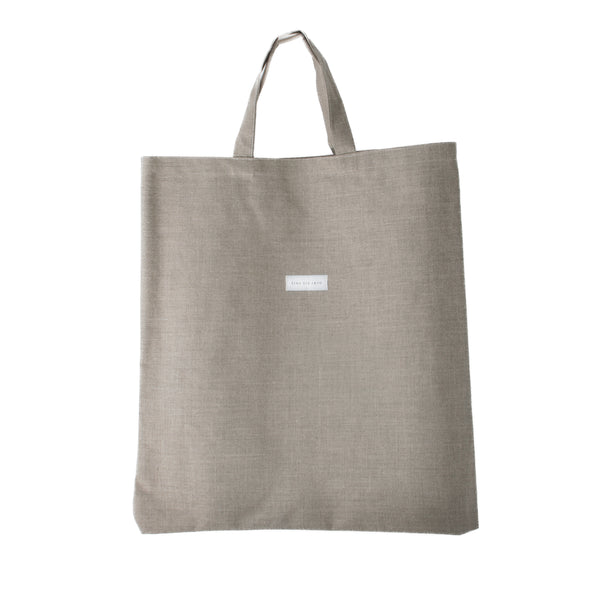 ERICA -  natural linen carryall tote bag
