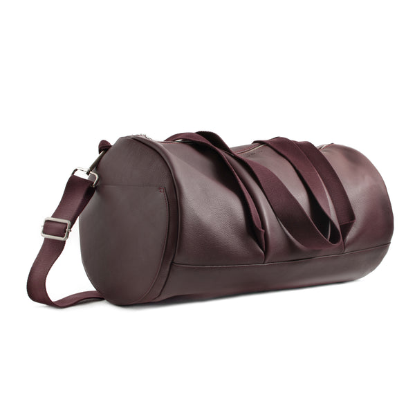 FRIDA - wine unisex leather duffle bag