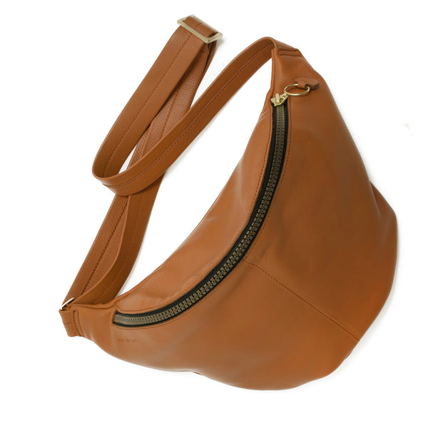 JOSEFINA - honey unisex leather medium cross body