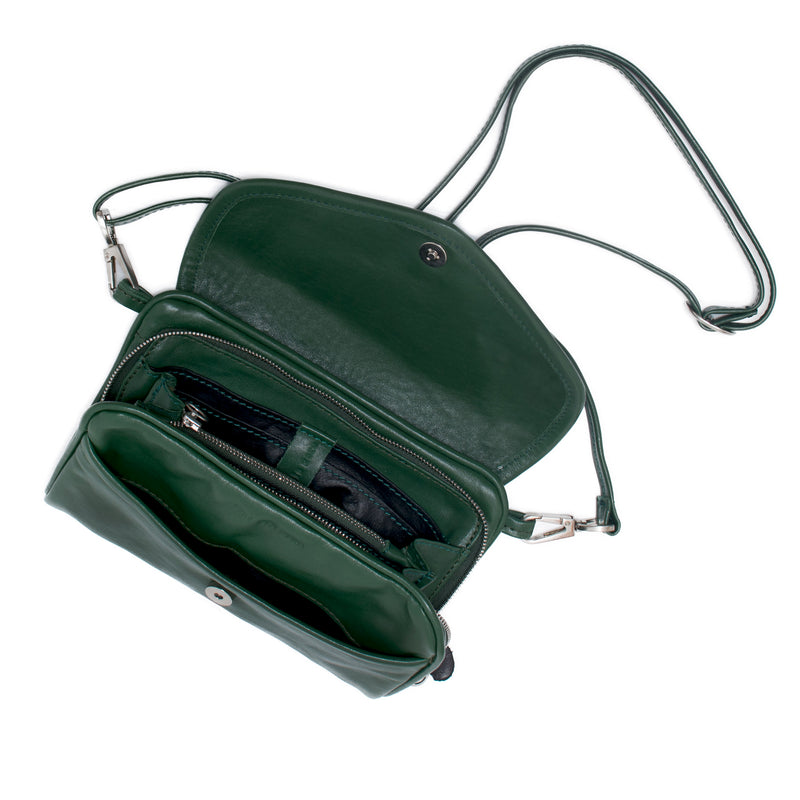 PETRA - emerald green wallet bag