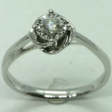 18K White Gold Diamond Women Ring