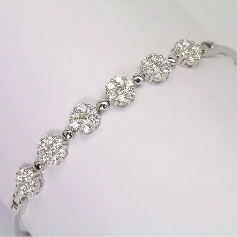 18K White Gold Diamond Bracelet D2.25 CT