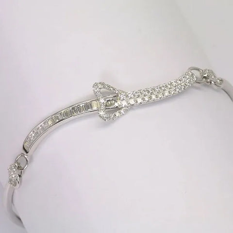 18K White Gold Diamond Bracelet D0.79 CT