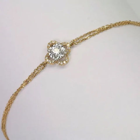 18K Rose Gold Diamond Bracelet D0.136 CT