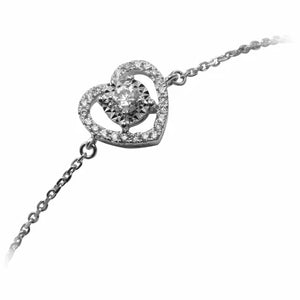 18K White Gold Diamond Bracelet D0.173 CT