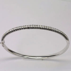 18K White Gold Diamond Bangle D2.89 CT