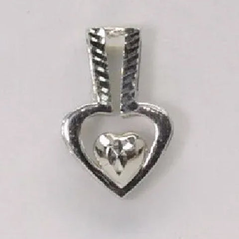 Platinum Heart Pendant 2.5 Grams