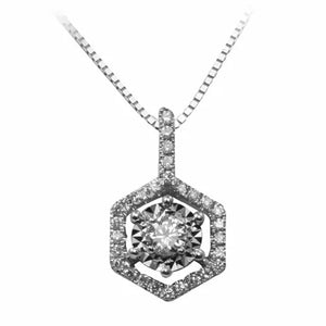 18K White Gold Diamond Pendant D0.20 ct