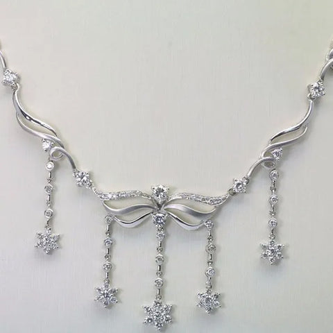 18K White Gold Diamond Necklace D2.72CT