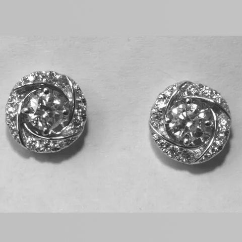 18K White Gold Diamond Jackets Earrings