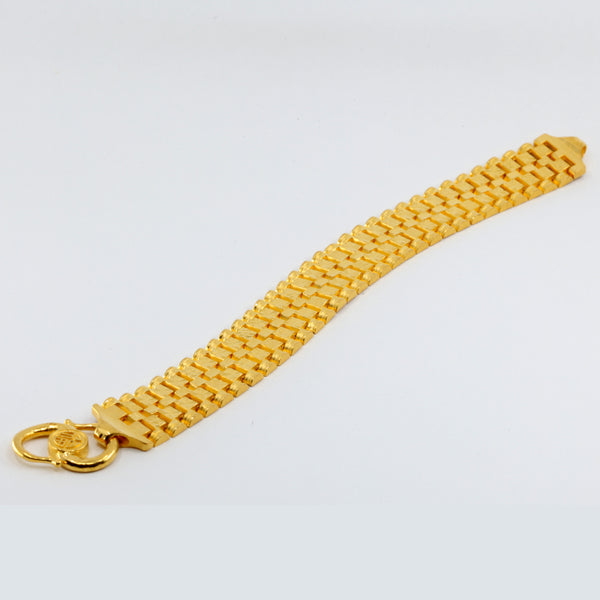 24K Solid Yellow Gold Men Bracelet 56.9 Grams
