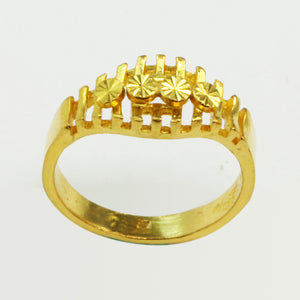 24K Solid Yellow Gold Women Ring 5.2 Grams