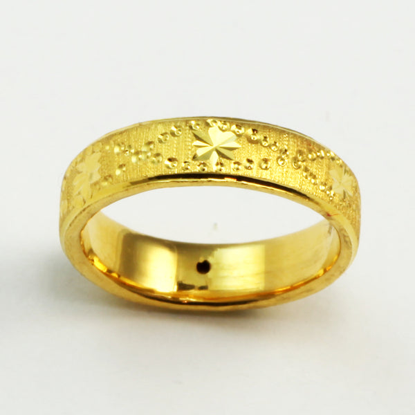 24K Solid Yellow Gold Women Ring Band 2.3 Grams