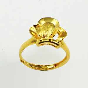24K Solid Yellow Gold Women Ring 5.9 Grams