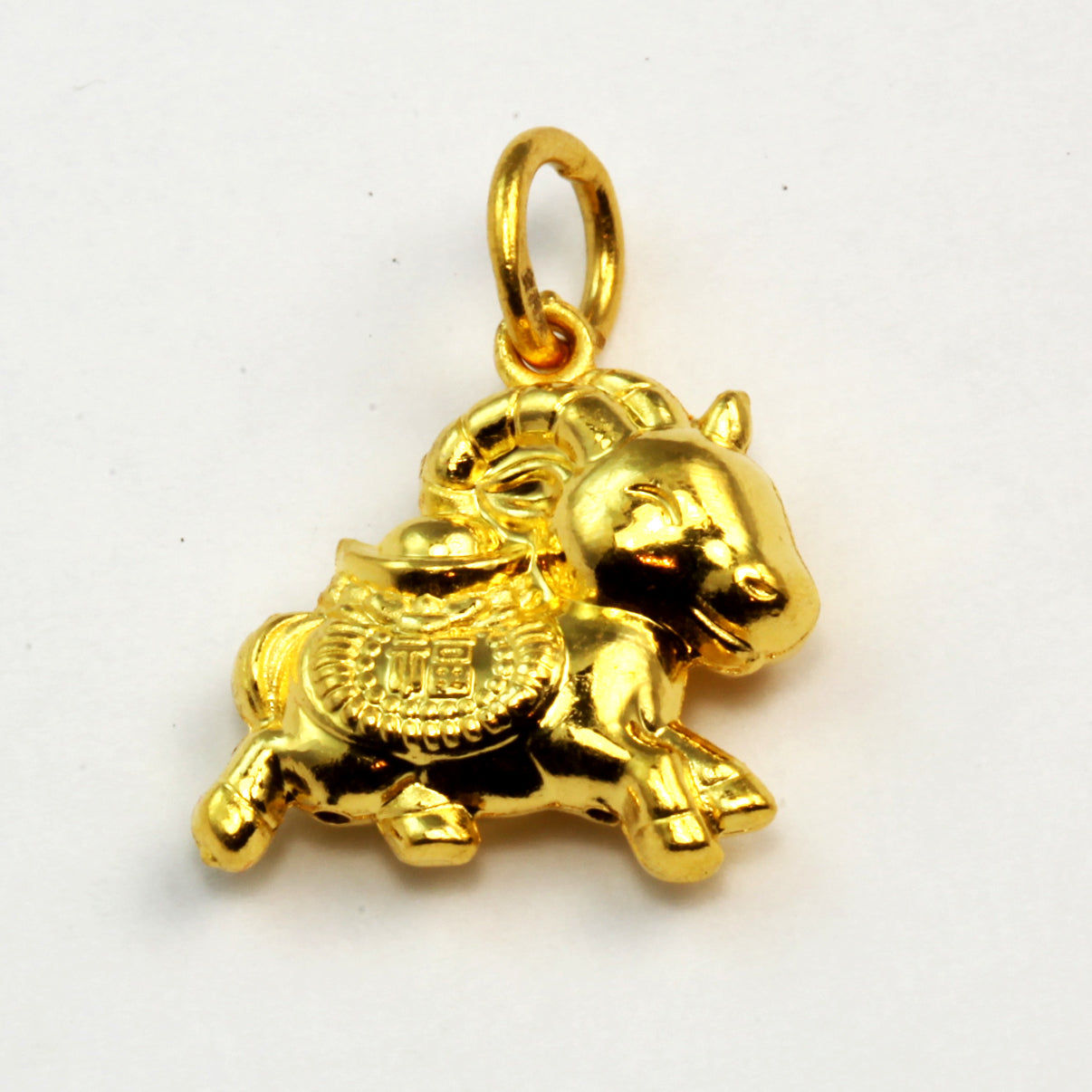 24K Solid Yellow Gold 3D Horse Pendant 2.96 Grams