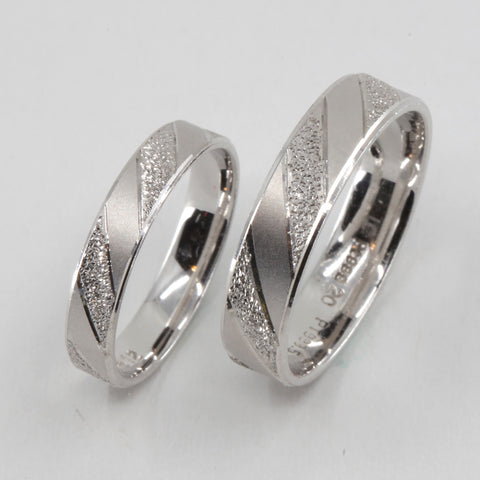 One Pair of Platinum Wedding Band Rings 10 Grams