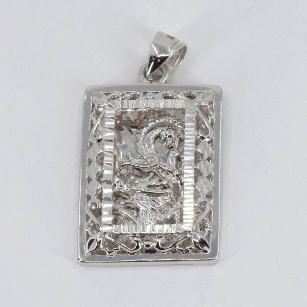Platinum 3D Dragon Pendant 14.8 Grams