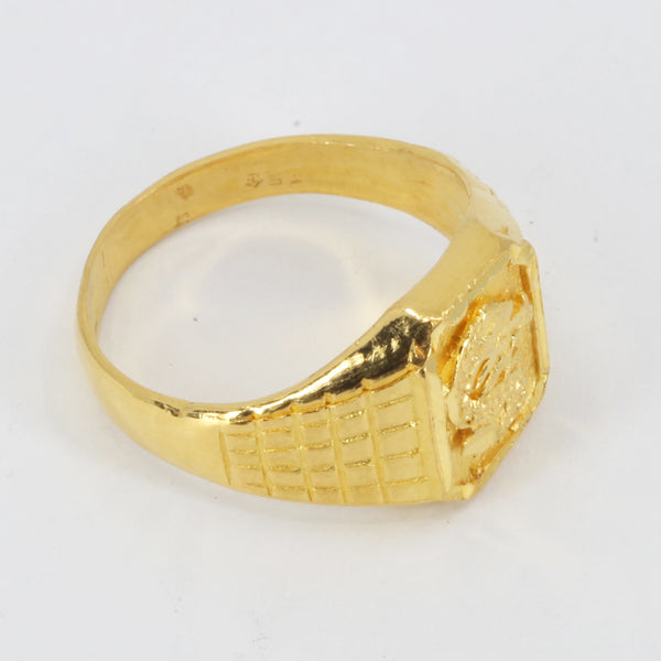 24K Solid Yellow Gold Dragon Ring 9.1 Grams