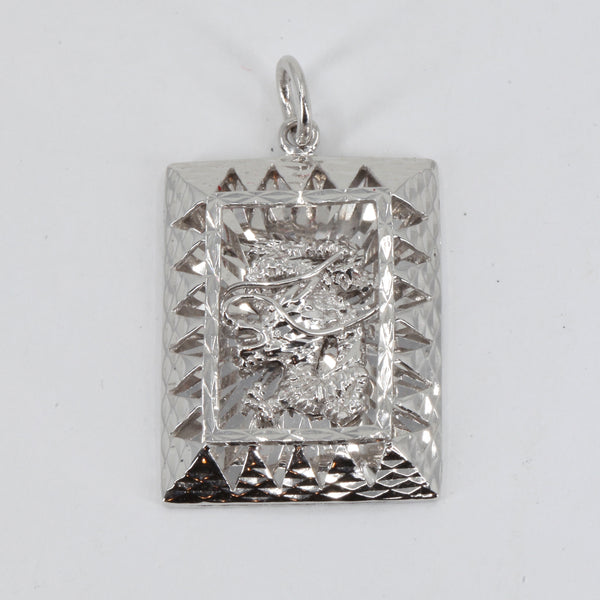 Platinum 3D Dragon Pendant 13 Grams
