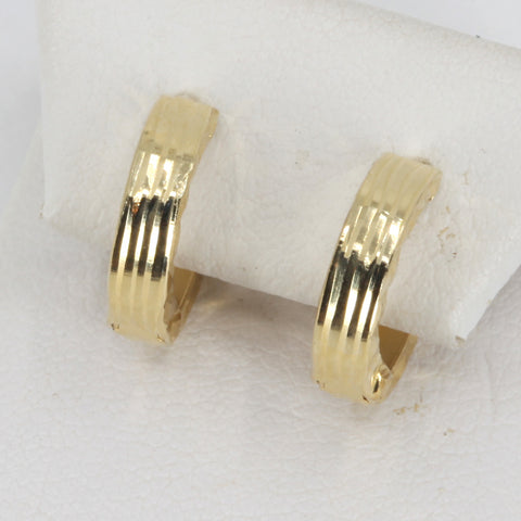 14K Yellow Gold Hoop Earrings 1.2 Grams
