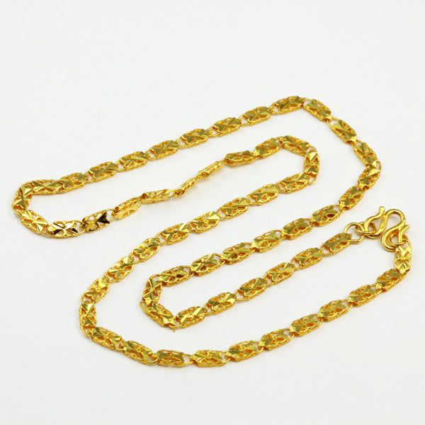 24K Solid Yellow Gold Link Chain 9.5 Grams