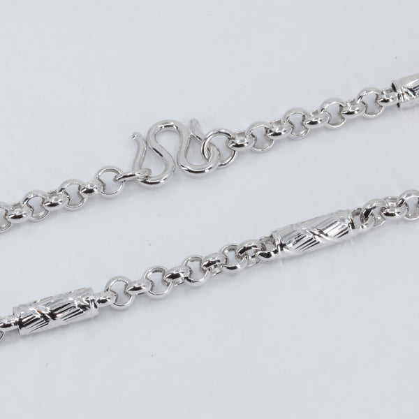 Platinum Barrel Link Chain 38.1 Grams 21.5""