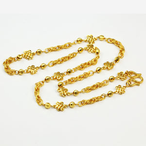 24K Solid Yellow Gold Design Chain 17.8 Grams