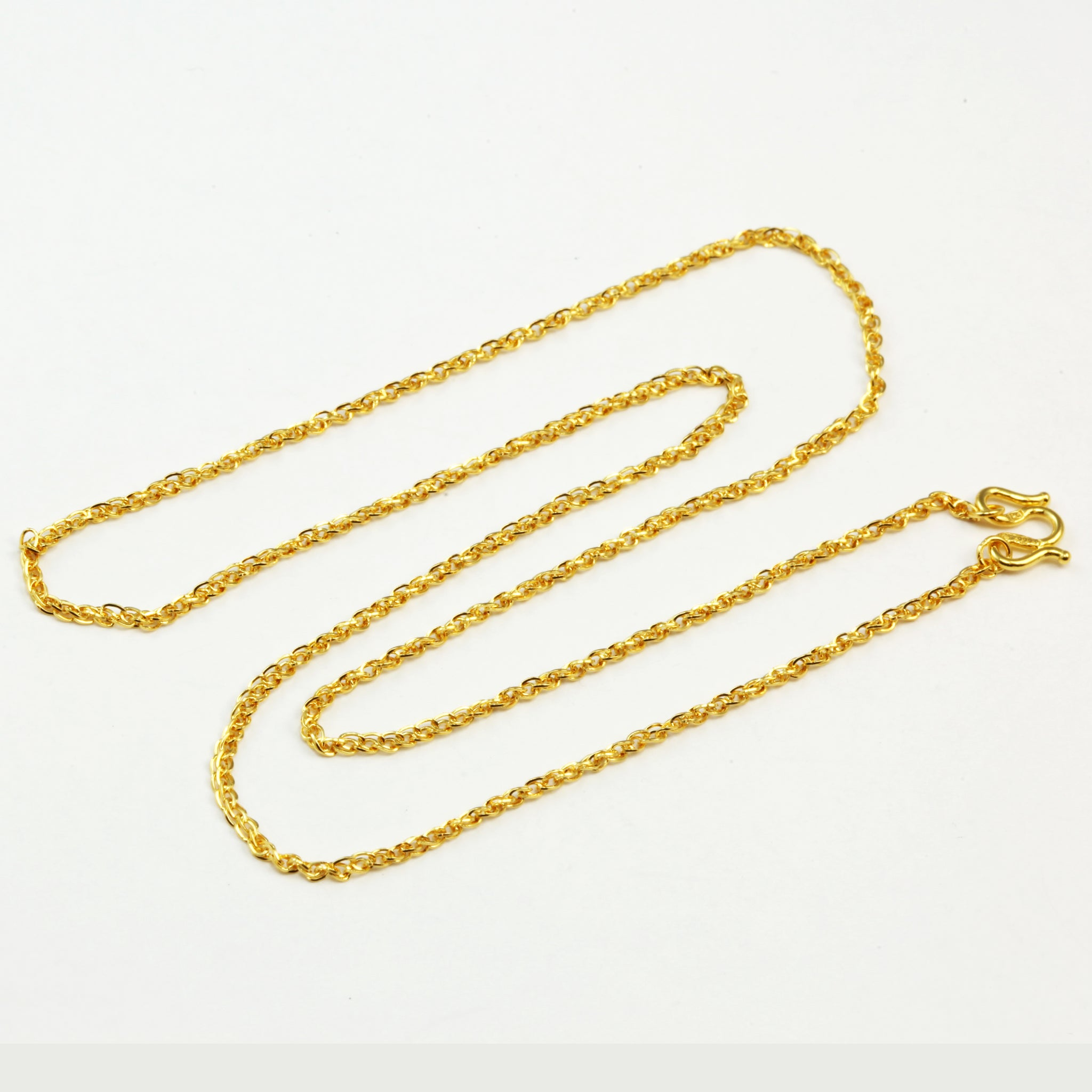 24K Solid Yellow Gold Square Link Chain 4.2 Grams