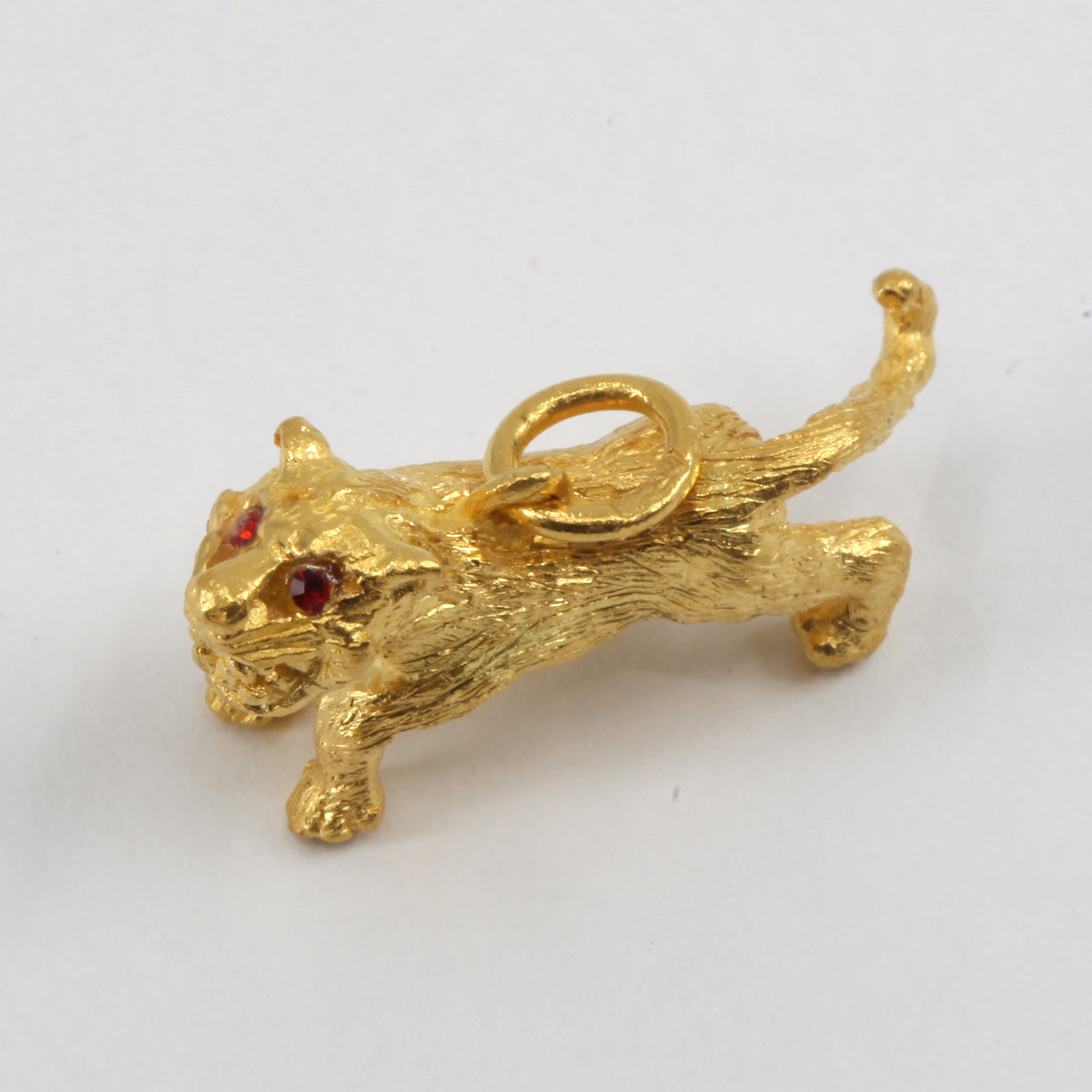 24K Solid Yellow Gold 3D Zodiac Tiger Pendant 8.3 Grams