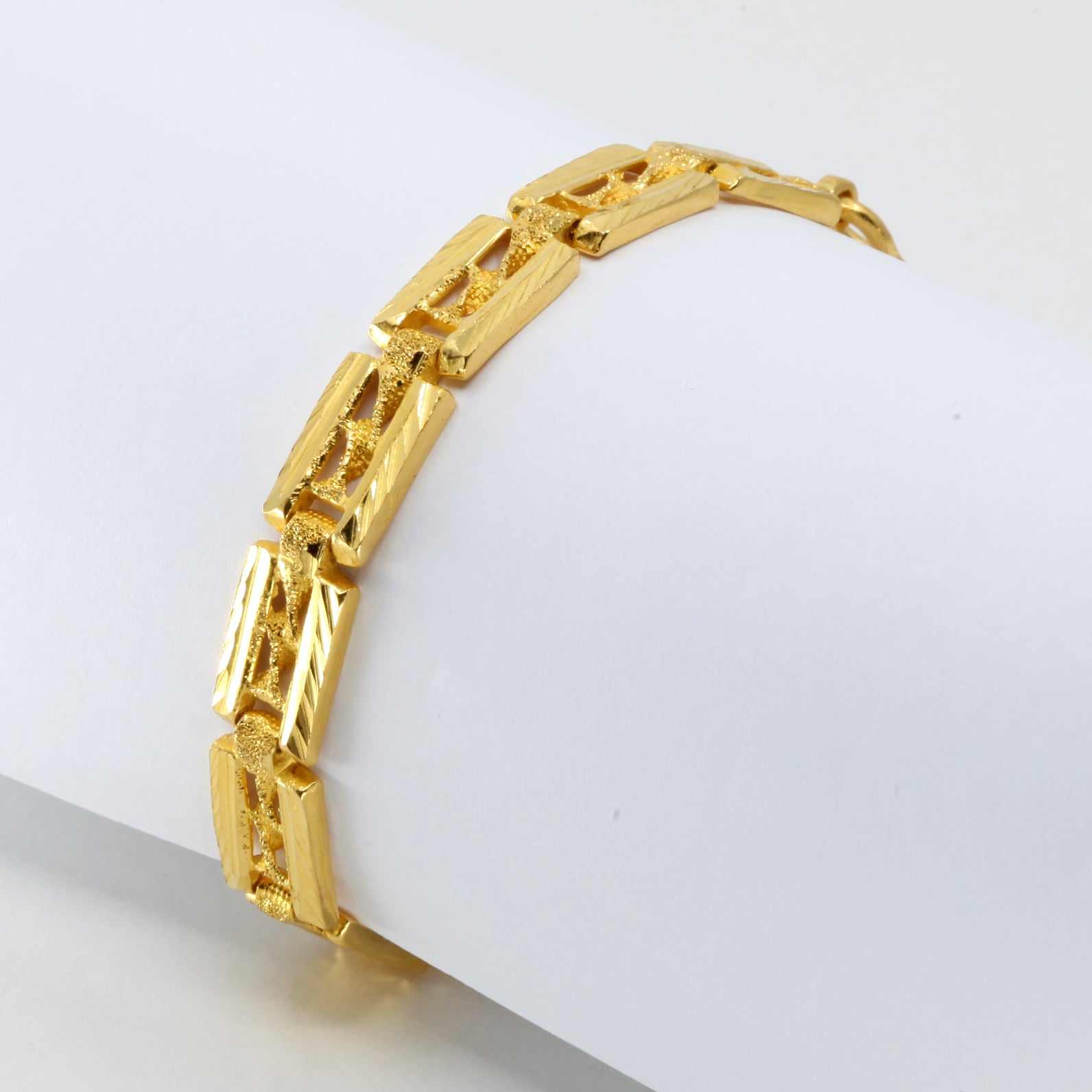 24K Solid Yellow Gold Men Bracelet 24 Grams