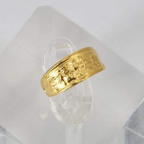 24K Solid Yellow Gold Baby Ring Band 1.2 Grams