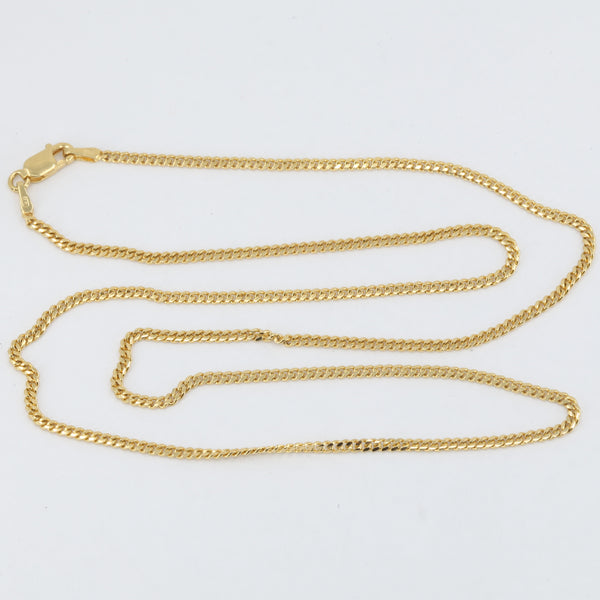 "14K Solid Yellow Gold Cubin Link Chain 20"" 16.9 Grams"
