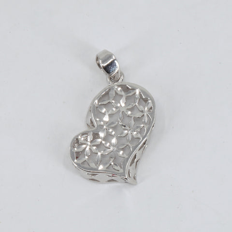 Platinum Heart Pendant 2.7 Grams