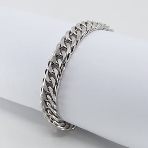 Platinum Men Flat Cuban Link Bracelet 79.6 Grams
