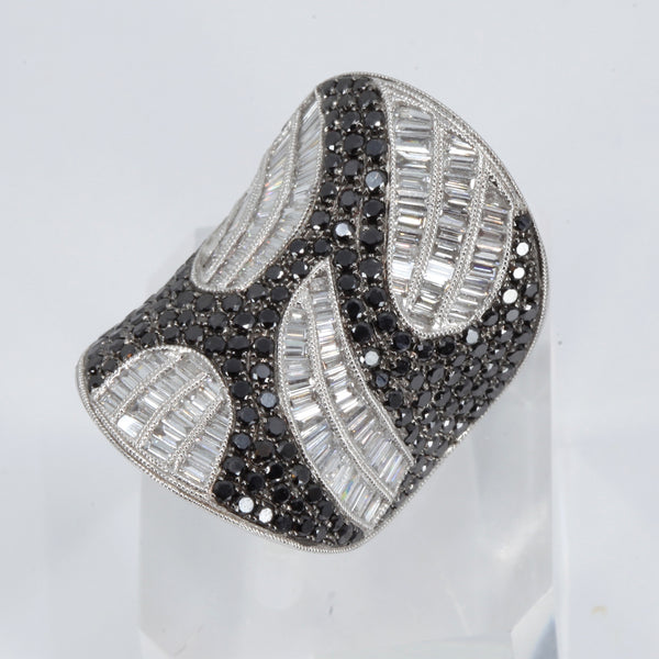 18K White Gold Women Diamond Ring D4.79CT