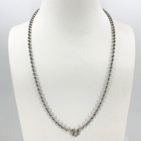 Platinum Beads Link Chain 26.32 Grams 20""