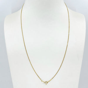 "14K Solid Yellow Gold Thin Braided Chain 19.5"" 1.7 Grams"