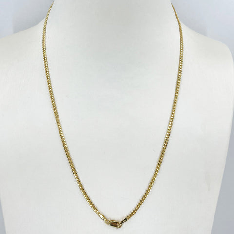 "14K Solid Yellow Gold Cubin Link Chain 18"" 6.7 Grams"